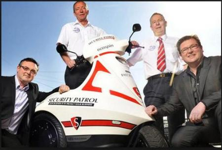 David Loomes, Andrew Watts (suppliers FW Cables & MAN), Steve Gaston (FW Cables) and Paul Loomes